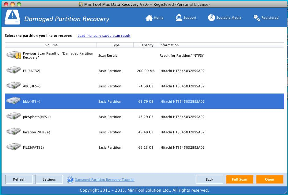 Recover Data from Damaged HFS+ Partition 2