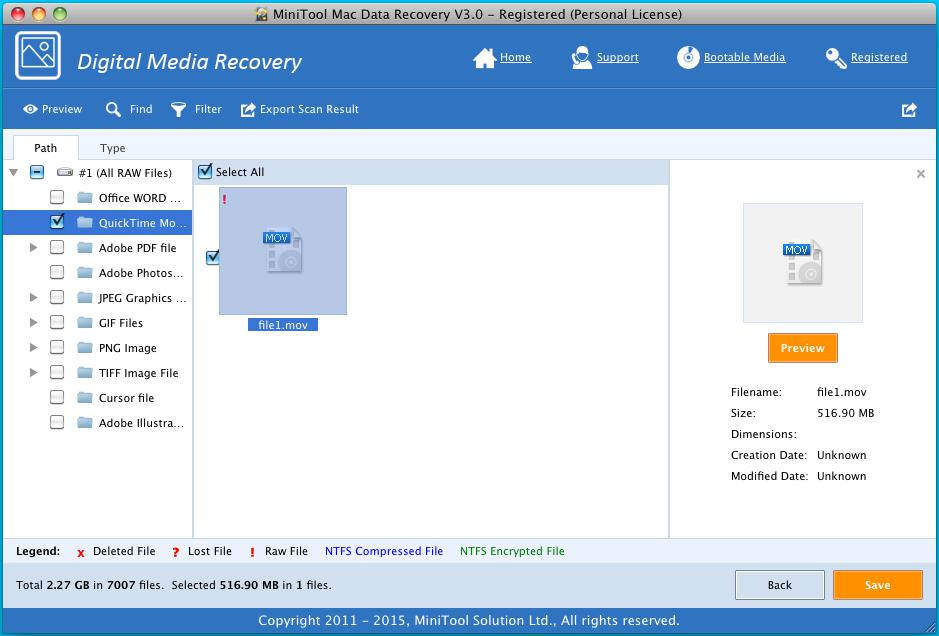 Recover Video Files on Mac 3