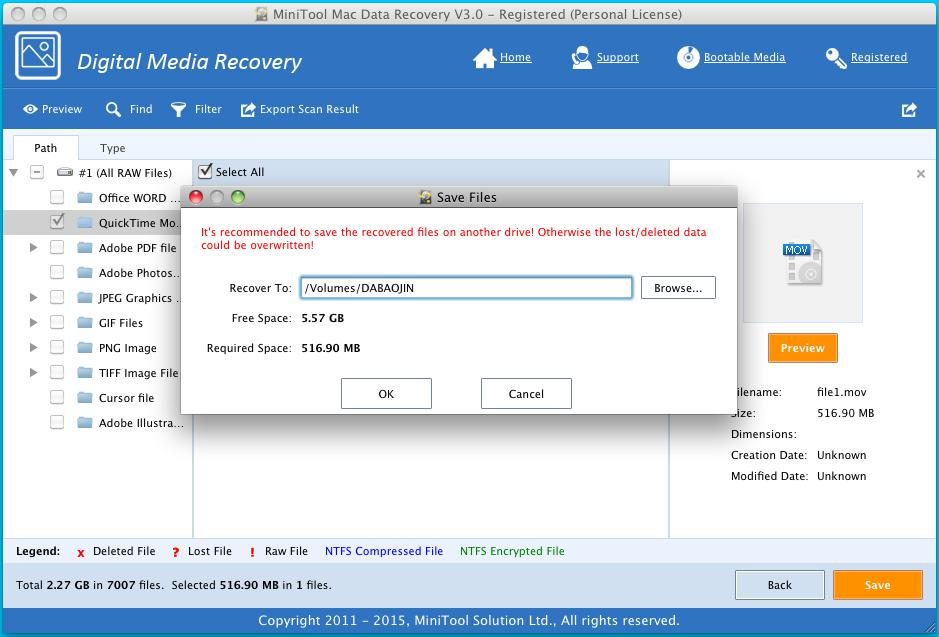 Recover Video Files on Mac 4