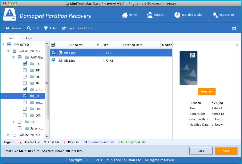 Damaged Partition Recovery 3