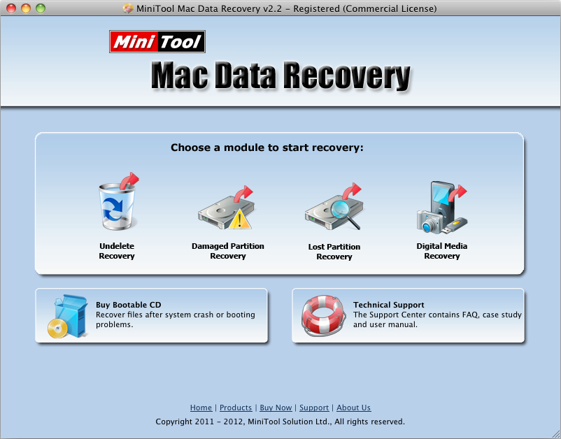 MiniTool Mac Data Recovery Free Edition Screen shot